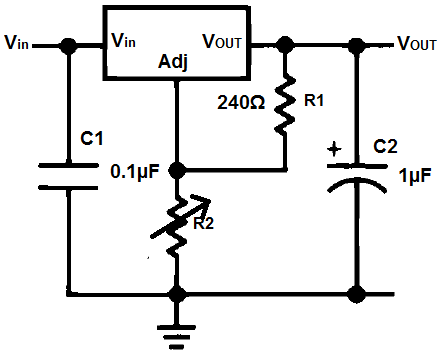 Simple LM317 Variable Voltage Regulator