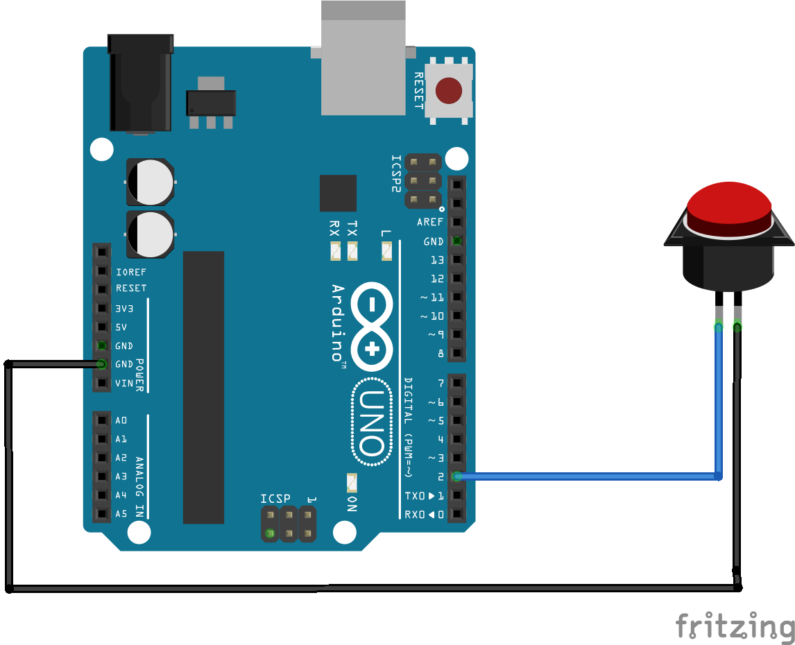 Arduino button without resistor pull up or down