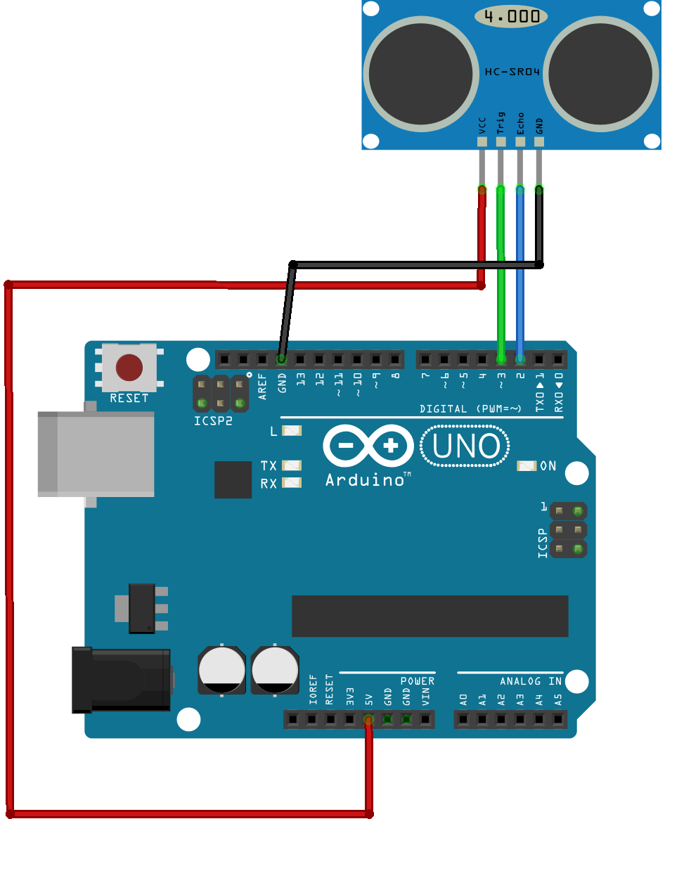 HC-SR04 ultrasonic sensor with arduino tutorial - miliohm.com
