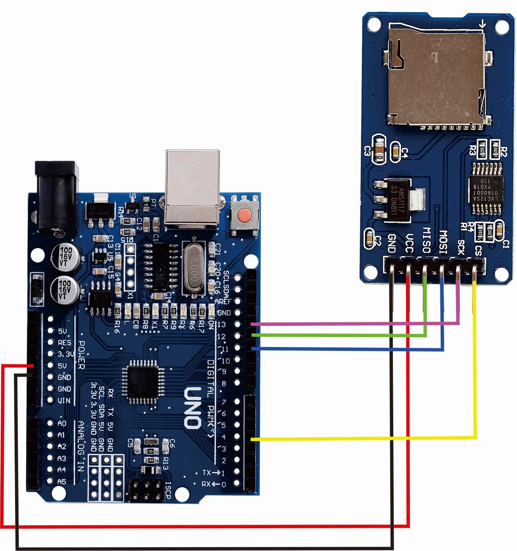 arduino and sd card module