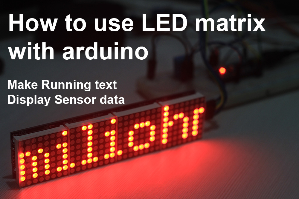 LED matrix arduino tutorial