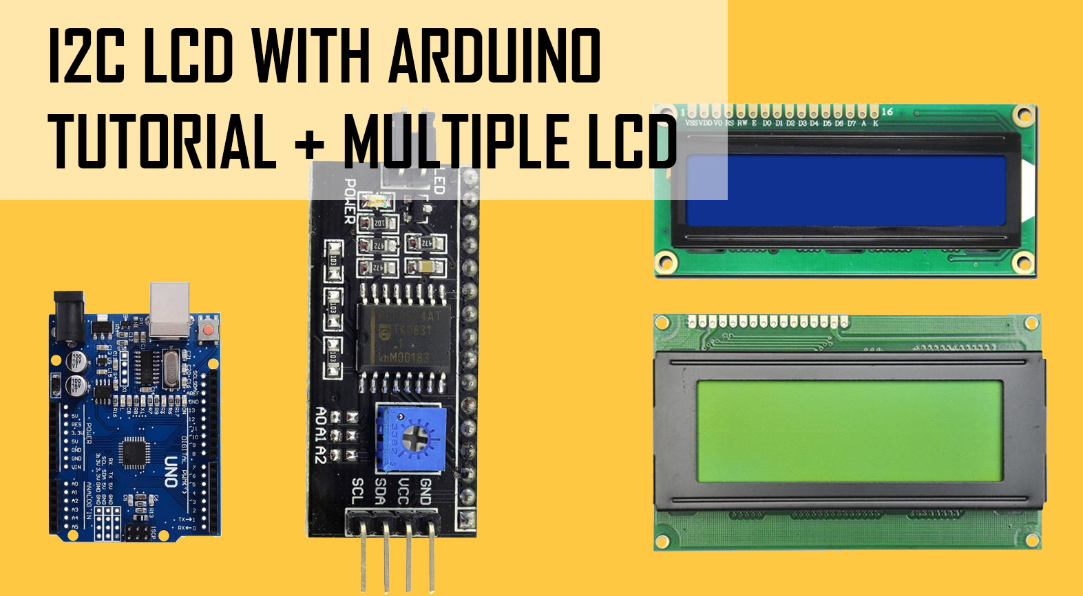I2C LCD backpack arduino